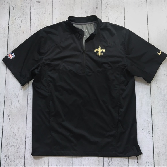 quality design 2854e 888f7 New Orleans Saints Nike short sleeve zip pullover